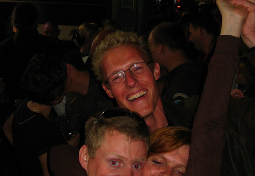 IMG 4307 - Paul is getting hugged by a local girl in Zaanzicht